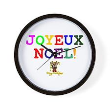 CHRISTMAS - JOYEUX NOEL - REINDEER! - Wall Clock