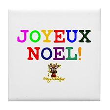 CHRISTMAS - JOYEUX NOEL - REINDEER! - Tile Coaster