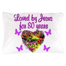 BLESSED 80TH Pillow Case