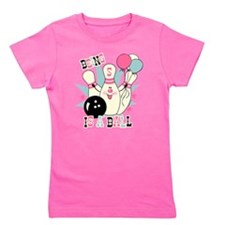 Pink Bowling Pin 5th Birthday Girl's Tee