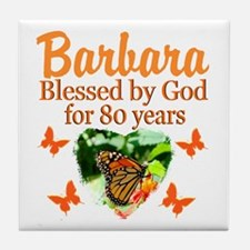 80TH PRAYER Tile Coaster