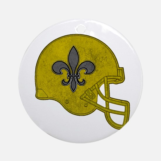 Rustic Helmet Round Ornament