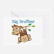 Monkeys Big Bro w. Little Sis Greeting Card