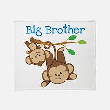 Monkeys Big Bro w. Little Sis Throw Blanket