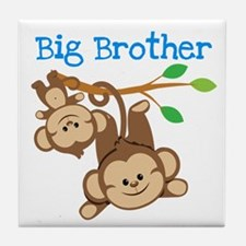 Monkeys Big Bro w. Little Sis Tile Coaster