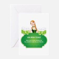AN IRISH TOAST Greeting Card