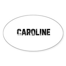 Caroline Oval Decal
