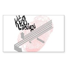 K & S Designs Rectangle Decal