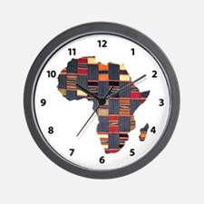 Ethnic African Tapestry Wall Clock