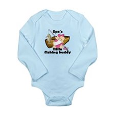 Cute Grandpa fishing Long Sleeve Infant Bodysuit