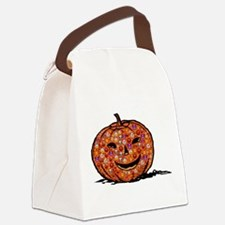 Unique Halloween pumpkin Canvas Lunch Bag