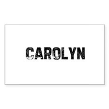Carolyn Rectangle Decal