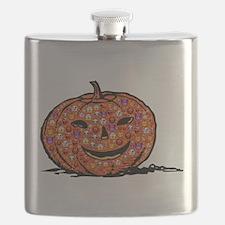 Unique Halloween pumpkin Flask