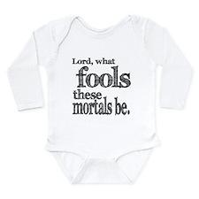 Unique Theatre quote Long Sleeve Infant Bodysuit