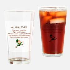 AN IRISH TOAST Drinking Glass