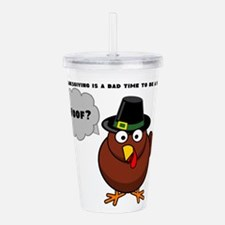 Bad to Be a Bird Acrylic Double-wall Tumbler