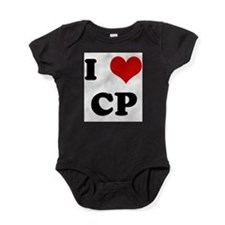 Love heart Baby Bodysuit