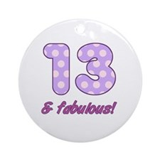 13th Birthday Dots Round Ornament