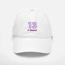 13th Birthday Dots Baseball Baseball Cap
