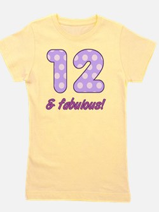 12th Birthday Dots Girl's Tee