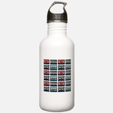 Cassettes Pattern Stainless Water Bottle 1.0l