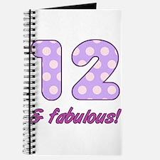 12th Birthday Dots Journal