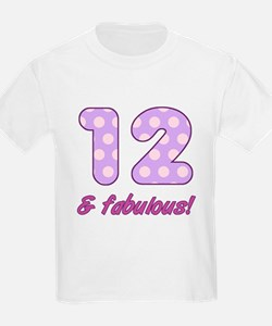 12th Birthday Dots T-Shirt