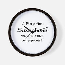 play saxophone Wall Clock