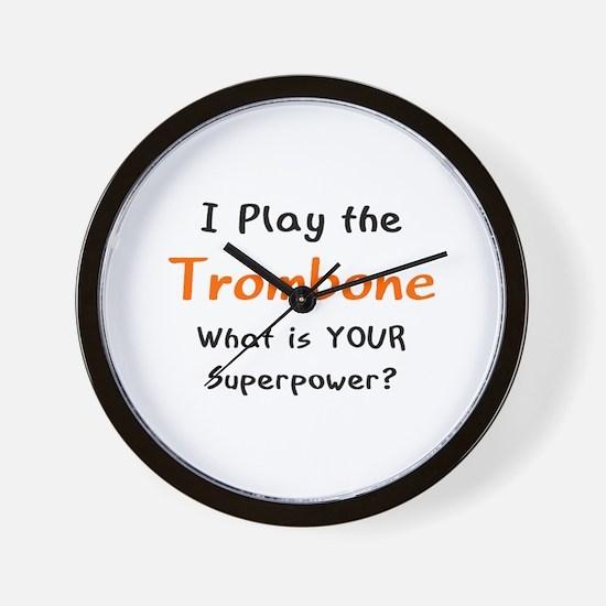 play trombone Wall Clock