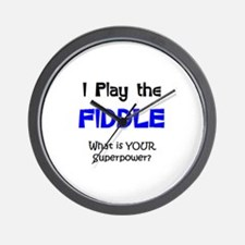 play fiddle Wall Clock