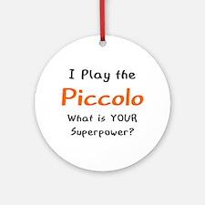 play piccolo Round Ornament