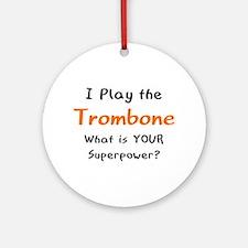 play trombone Round Ornament