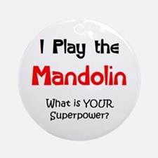 play mandolin Ornament (Round)