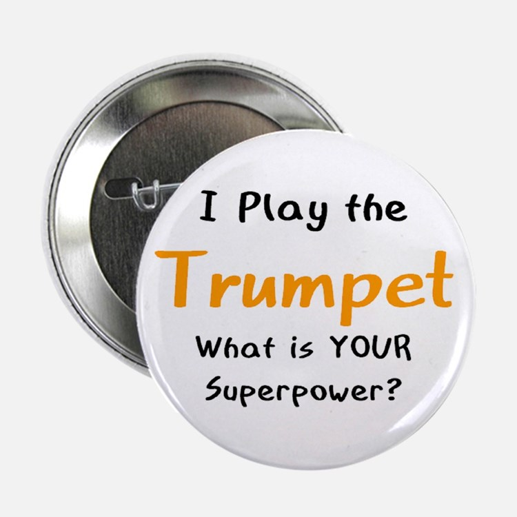 """play trumpet 2.25"""" Button"""