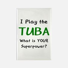 play tuba Rectangle Magnet
