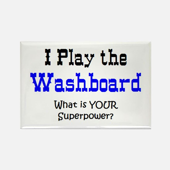 play washboard Rectangle Magnet