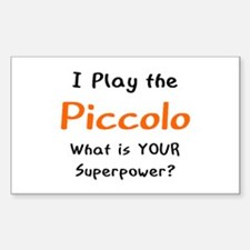 play piccolo Decal