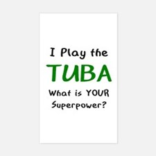 play tuba Decal