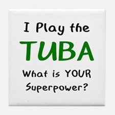 play tuba Tile Coaster