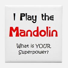 play mandolin Tile Coaster