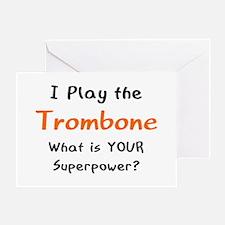 play trombone Greeting Card