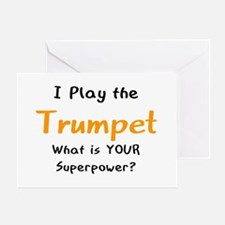 play trumpet Greeting Card