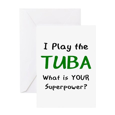 play tuba Greeting Card