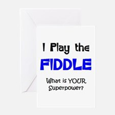 play fiddle Greeting Card