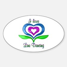 I Love Line Dancing Hearts Decal