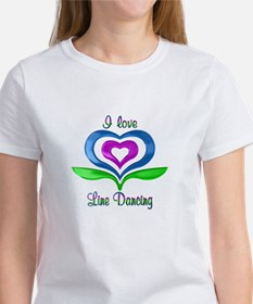 I Love Line Dancing Hearts Tee