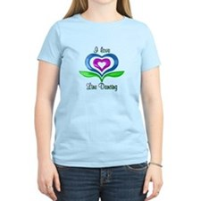 I Love Line Dancing Hearts T-Shirt