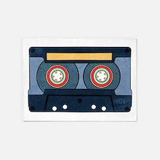 Blue Cassette 5'x7'Area Rug