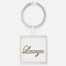 Gold Lauryn Square Keychain