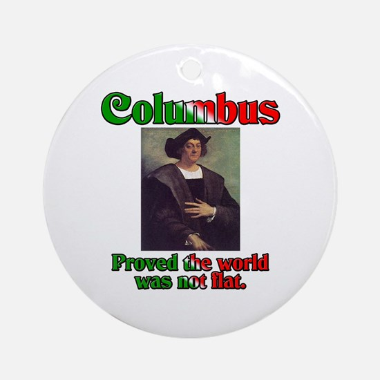 Columbus Day Ornament (Round)